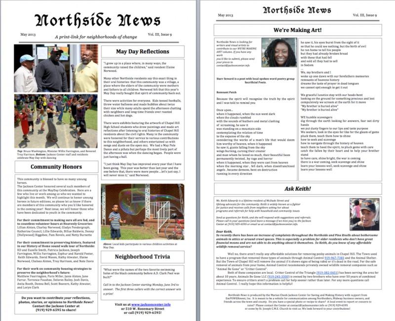 Northside News Volume III, Edition 9