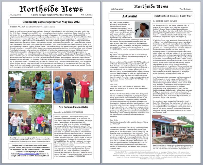 Northside News Volume II, Edition 5